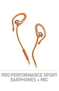 PRO PERFORMANCE SPORT EARPHONES + MIC
