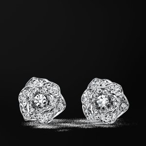 Piaget Rose earrings - G38U0048