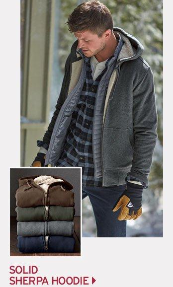 Shop Men's Sherpa Hoodie