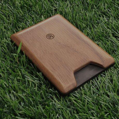 Union Wood Wallet // Dark Walnut
