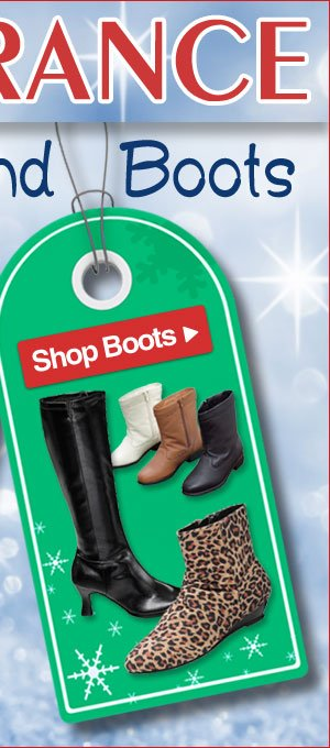 Clearance Boots - Savings up to 70% - Limited Quantities - Shop Now >>