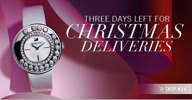 Three days left for Christmas deliveries