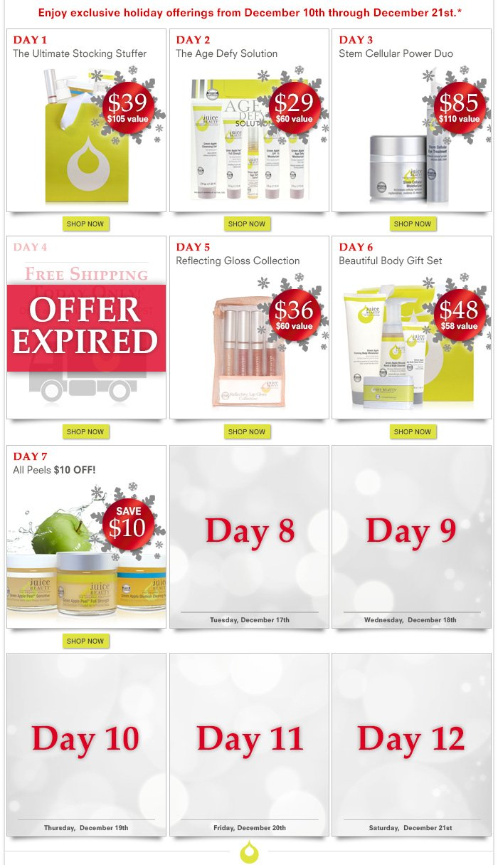 12 Days Of Beauty: Day 7 - All Peels $10 OFF!