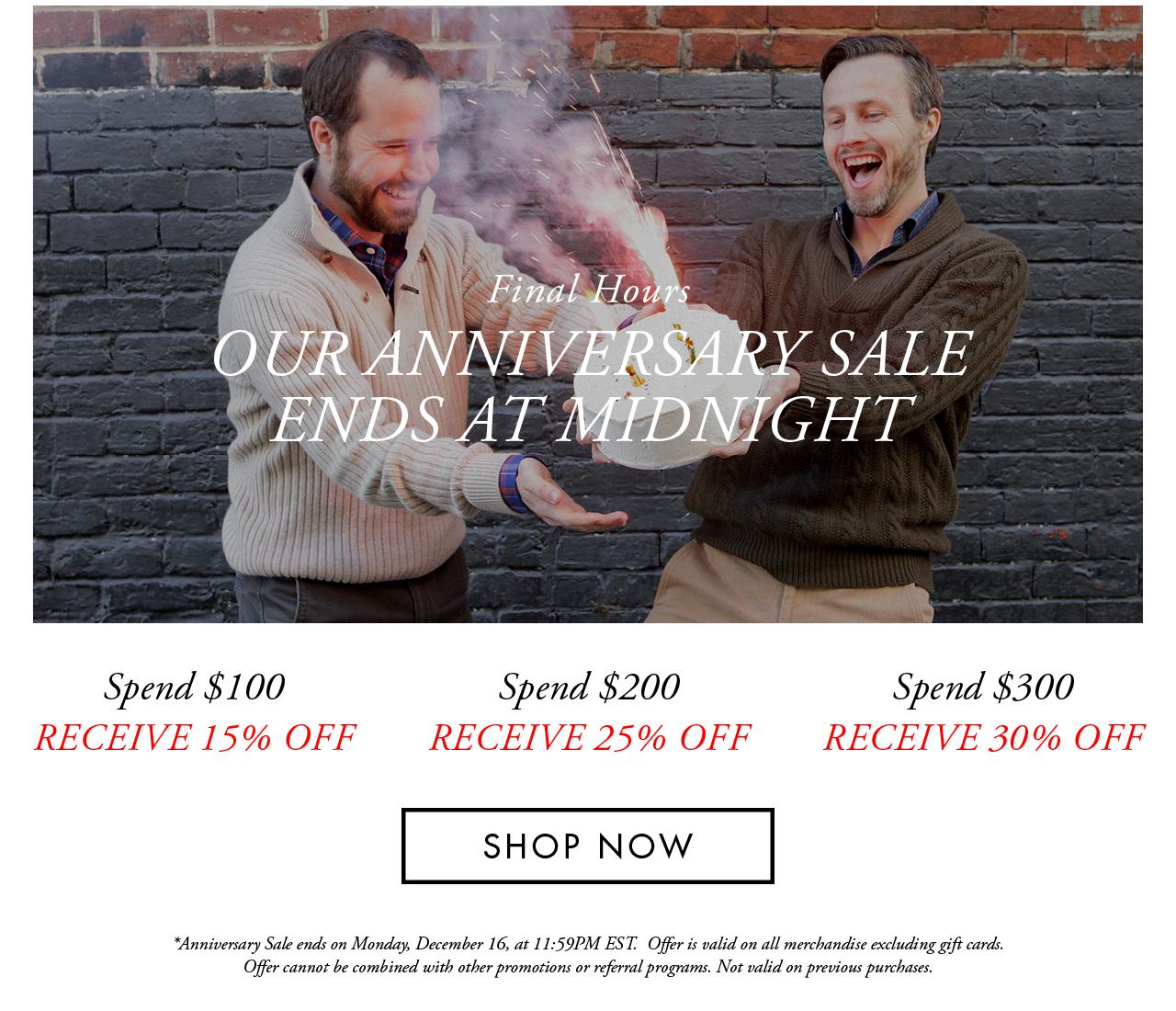 Anniversary Sale — Final Hours