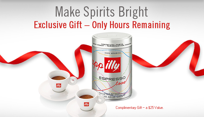 Make Spirits Bright Exclusive Gift – Only Hours Remaining  Complimentary Gift – a $25 Value.