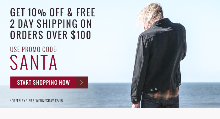 Get 10% Off and Free 2 Day Shipping on Orders over $100. Use Promo code SANTA. Expires Wednesday 12/18