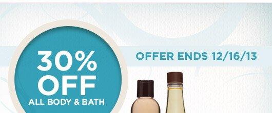 30% off Body & Bath