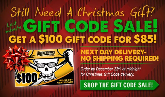 Get a $100 Gift Code For $85!