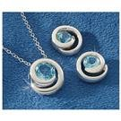 Sterling Silver and Blue Topaz Necklace or Earrings