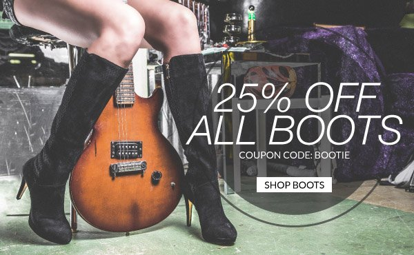 Save 25% Off All Boots with Coupon Code BOOTIE!