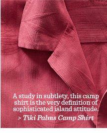 Tiki Palms Camp Shirt