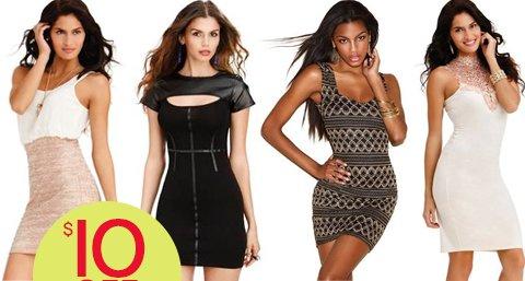 Take $10 off Select Dresses