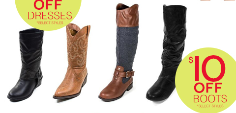Take $10 off All Boots