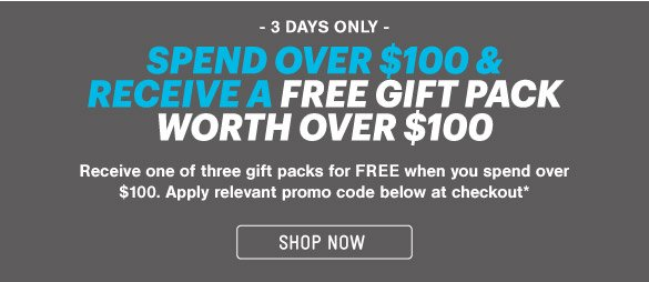 FreeGift Pack Worth Over $100*