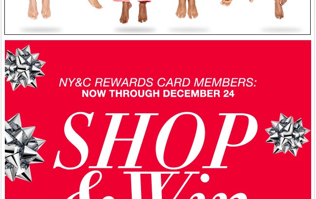 Shop with Your NY&C Rewards Card & Win a $1,000 Shopping Spree!