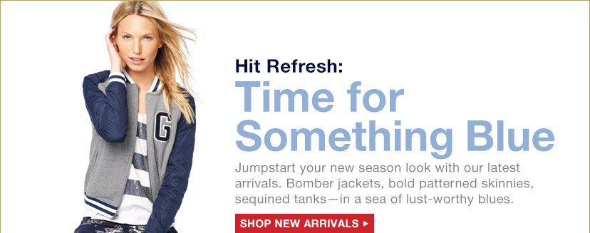 Hit Refresh: Time for Something Blue | SHOP NEW ARRIVALS