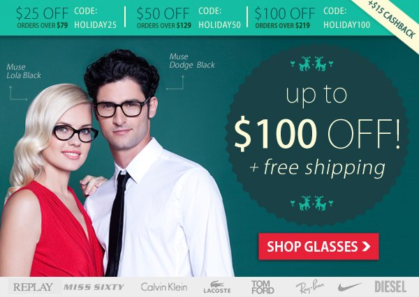 Up To $100 Off + Free Shipping!
