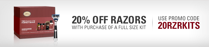 20% Off Razors with purchase of a Full Size Kit