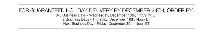 Holiday Shipping *
