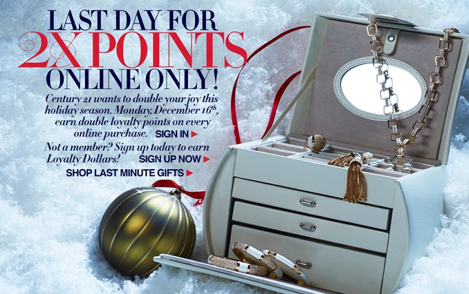 Last Chance for 2x Loyalty Points: Shop Women's Last Minute Gifts