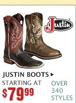 Mens Justin Boots on Sale