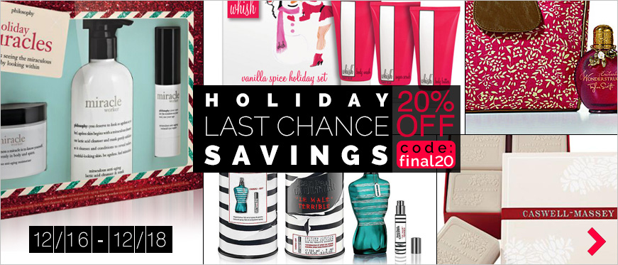 Holiday Last Chance Savings 20% Off - 3 Days Only. Use Code final20