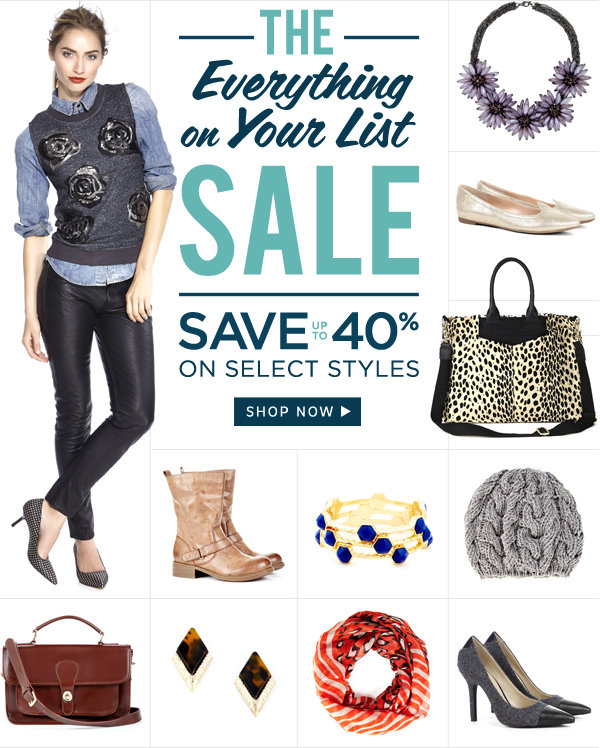 The Everything on Your List Sale