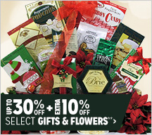 Up to 30% off + Extra 10% off Select Gifts & Flowers**