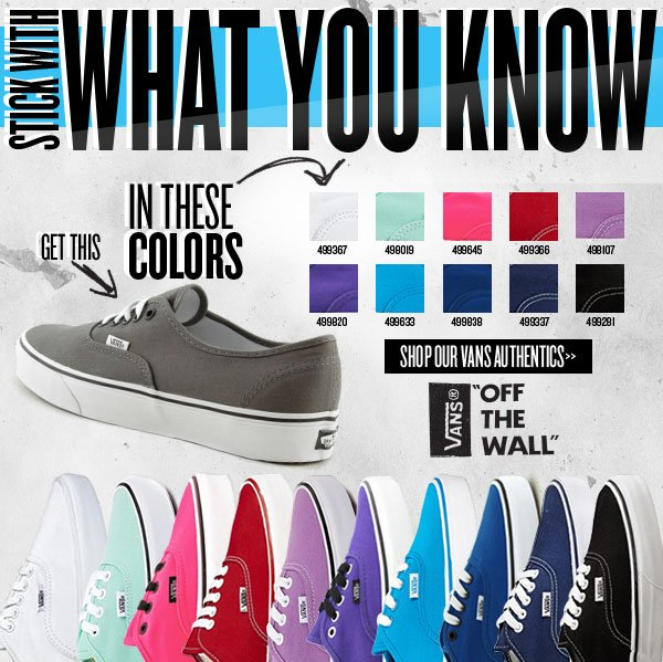 Stick with what you know. Shop Vans Authentics at Journeys!