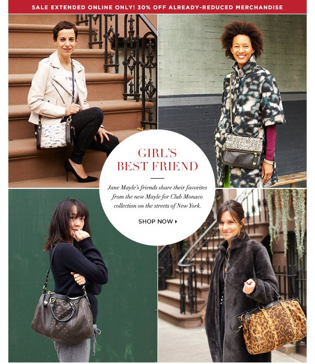 Girls' Best Friend: Give The Exclusive Mayle For Club Monaco Collection