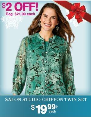 Chiffon Twin Set $21.99 each
