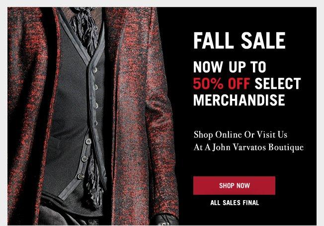 Now Up To 50% Off - Shop The John Varvatos Fall Sale