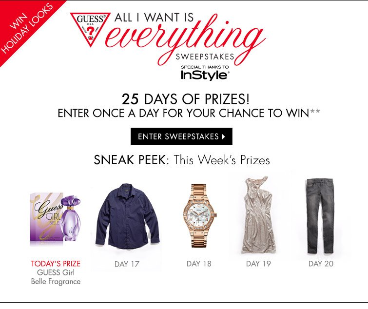 ENTER SWEEPSTAKES