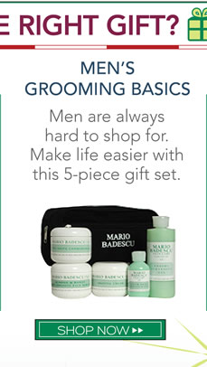 Men are always hard to shop for. Make life easier with this 5-piece gift set