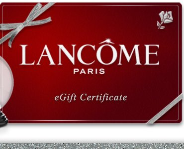 LANCOME PARIS eGift certificates