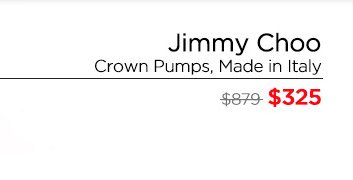 Jimmy Choo Linda Pumps- Made in Italy