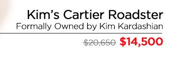 CARTIER Roadster 18K Y/G Watch- Formally Owned by Kim Kardashian