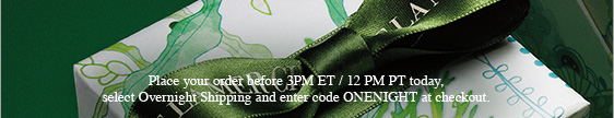 Place your order before 3PM ET / 12 PM PT today, select Overnight Shipping and enter code ONENIGHT at checkout.