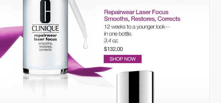 Repairwear Laser Focus Smooths, Restores, Corrects 12 weeks to a younger look—in one bottle. 3.4 oz. $132.00. SHOP NOW.