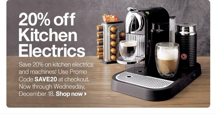 20% off Kitchen Electrics
