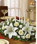 All White Centerpiece Same-Day Local Florist Delivery