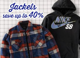 Jackets: up to 40% Off!