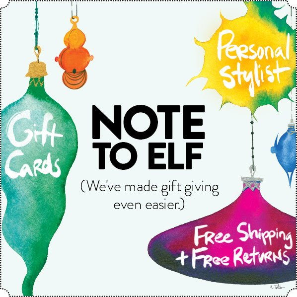 NOTE TO ELF (We've made gift giving even easier.)