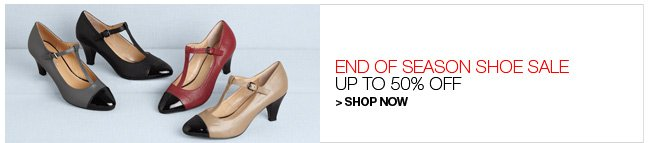 Shop End of Season Shoe Sale, Up to 50% Off