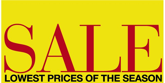 Lowest Prices of the Season Sale, Over 100 Markdowns! Save Up to 60% off