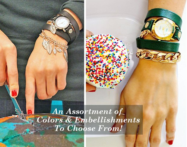 An Assortment of Colors and Embellishments to Choose From!