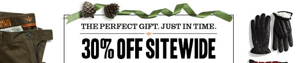THE PERFECT GIFT. JUST IN TIME 30% OFF SITEWIDE*