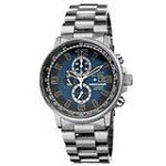Citizen CA0500-51L Men's Nighthawk Eco-Drive Blue Dial Titanium Bracelet Chronograph Dive Watch