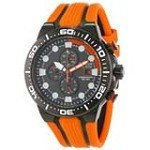 Citizen CA0517-07E Men's Scuba Fin Eco-Drive Black Dial Black IP Steel Chronograph Dive Watch