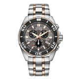 Citizen BL5446-51H Men's Signature Perpetual Calendar Chronograph Two Tone Bracelet Dive Watch